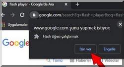 Adobe flash player etkinleştirme